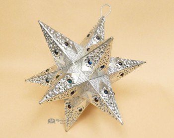 """Handcrafted Tin Hanging Metal Art 15.5"""" -Star"""