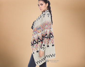 Multi-color Southwestern Design Sweater - Medium