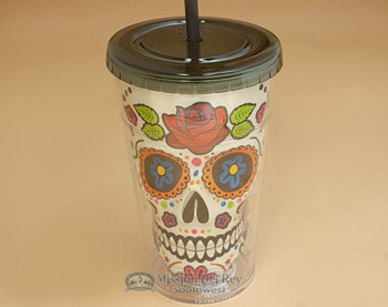 "Day of The Dead Drink Tumbler 9"" - Sugar Skull"