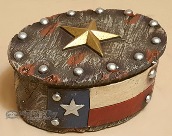 Southwestern Style Jewelry Box - Texas Flag and Star