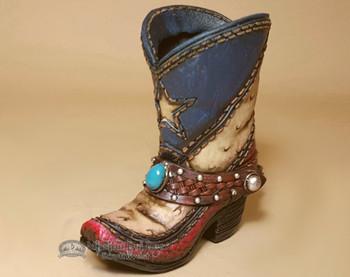 Western Pen, Pencil, & Utensil Holder - Texas Cowboy Boot