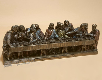 "Bronze Rustic Metal Art 9"" - The Last Supper"