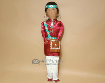 Hand Made Native American Doll - Navajo 22""