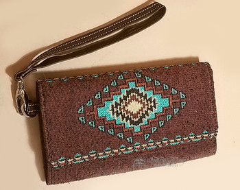 Tapestry Woven Wallet Clutch Bag -Becenti