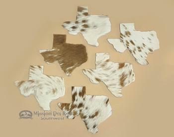Genuine Cowhide 6 piece set of Texas Coasters