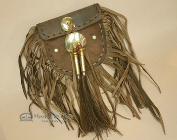 Native American Medicine Bag -Elk Hide
