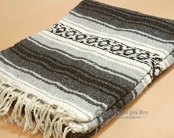 Traditional Woven Mexican Falsa Blanket