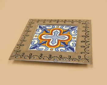 Tin Trivet with Talavera