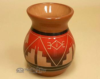 Lakota Sioux Red Clay Glazed Vase