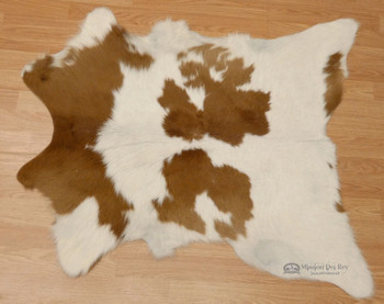 Calf Hide Rug / Wall Hanging -Brown Spotted (h106)