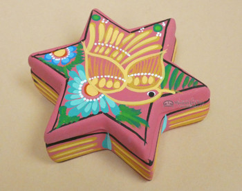 Hand Painted Star Pottery Jewelry Box