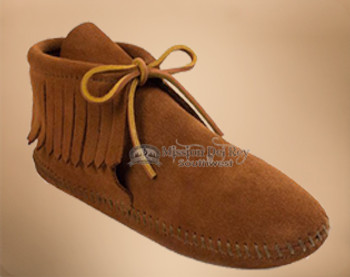 Kids Classic Fringed Boot Moccasin