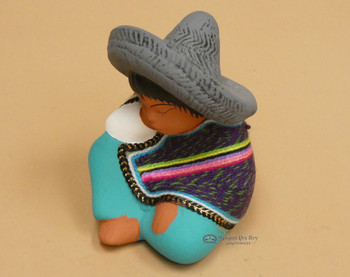 Hand Painted Clay w/ Woven Serape