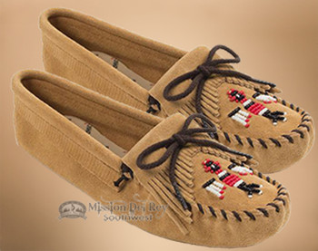 Women's Traditional Beaded Thunderbird Moccasin