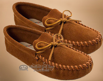 Men's Leather Laced Moccasins -Size6