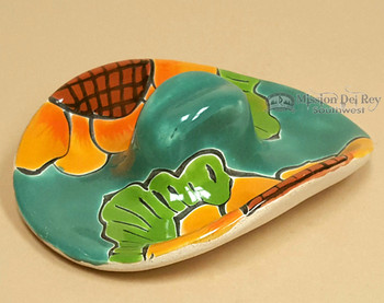 Hand Painted Mexican Ceramic Sombrero -Talavera