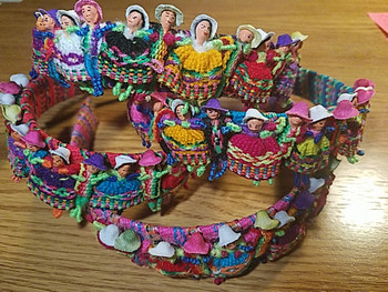 Bulk Worry Doll Head Bands, assorted colors