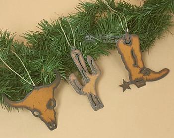 Western Metal Ornaments