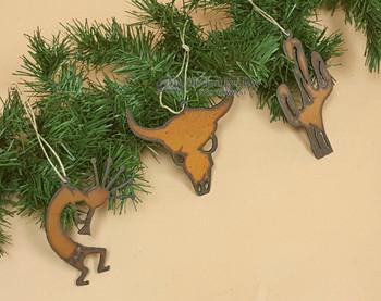 Southwestern Metal Ornament Set