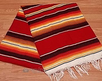 Southwest Fire Serape Blanket 5'x7' -Sunrise