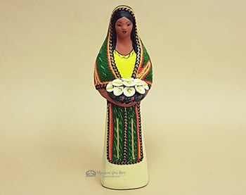 Southwestern Standing Maria With Flowers -Tan