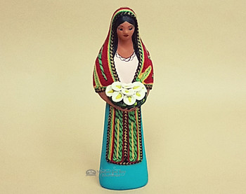 Southwestern Standing Maria With Flowers -Turquoise
