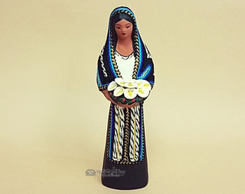 Southwestern Standing Maria With Flowers -Black