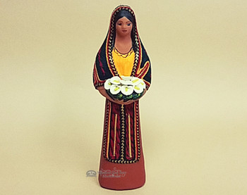 Southwestern Standing Maria With Flowers -Brown