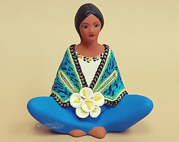 Matte Painted Sitting Maria Figurine