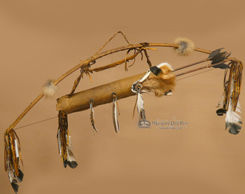 Antiqued Bow and Fox Face Quiver Set