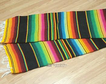 Southwest Serape Blanket 5'x7' -Black