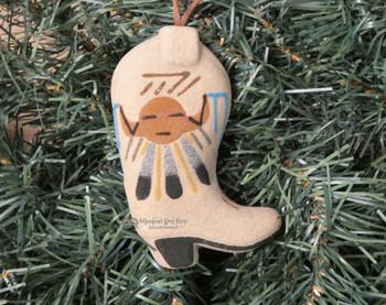 Navajo Sand Painted Christmas Ornament