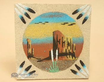 "Native American Navajo Sand Painting 4"""