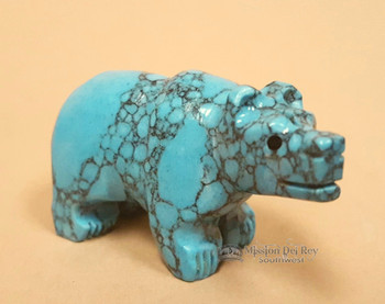 Hand Carved Navajo Stone Fetish -Bear