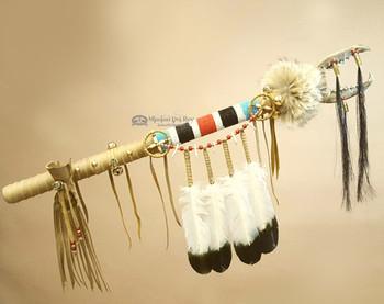 Native American Tigua Indian Coyote Jaw Dance Stick Medicine Staff