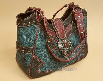 Faux Leather Design Handbag