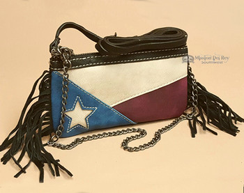 Western Fringed Wallet Bag -Texas Lone Star
