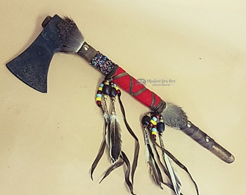 Deer Skin Leather Tomahawk