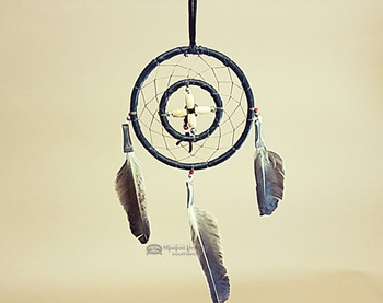 Native American Deer Skin Medicine Wheel Dream Catcher