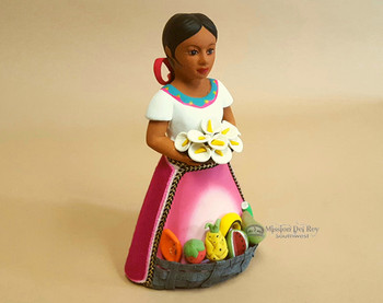 Hand Painted Clay Figurine -Mexico
