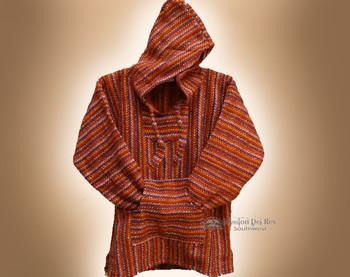 Primo Woven Baja Shirt Hoodie -Red