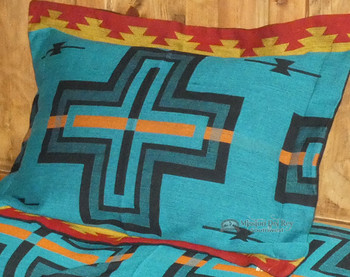 Pillow Sham -Matches Cochiti Turquoise Bedspread
