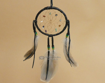 "DC4 NEW 4/"" DREAM CATCHER GREEN COLOR with feathers blessing bedroom dreams peace"