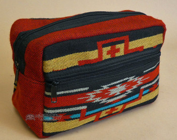 Zippered Southwestern Bag - Red