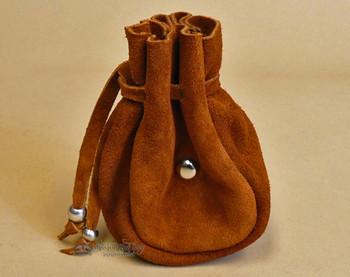 Rustic Native American Tigua Leather Medicine Pouch