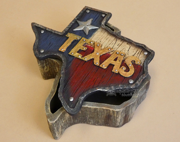 Texas State Flag Trinket Jewelry Box