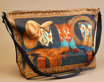 Western Design Cowboy Art Purse -Cowgirl Boutique