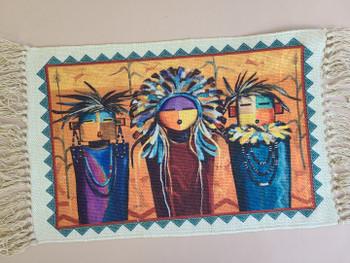 Southwest Style Native Art Place Mat -Sun Faces