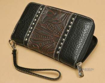Woman's Faux Tooled Leather Western Wallet