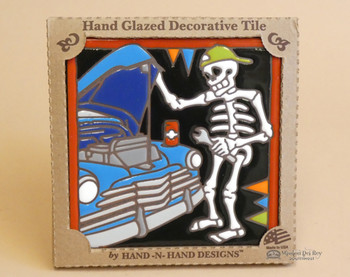 Day of the Dead Mexican Tile -Mechanic